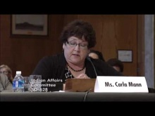 Carla Mann Testifies Before the Senate Committee on Indian Affairs on S. 2842