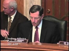 Chairman Barrasso Opening Statement at Oversight Hearing on Tribal Law and Order Act