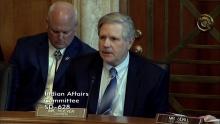 Senator Hoeven provides opening remarks at the SCIA legislative hearing on June 13, 2017.